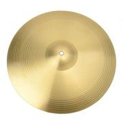 "Professional 16"" 0.7mm Copper Alloy Crash Cymbal for Drum Set Golden"