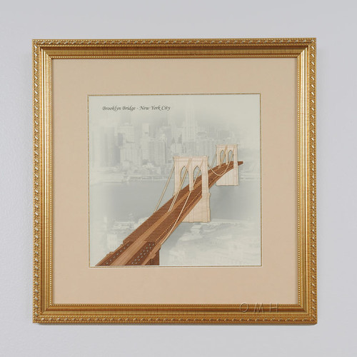 Old Modern Handicrafts Brooklyn Bridge in New York City Framed Graphic Art by Old Modern Handicrafts