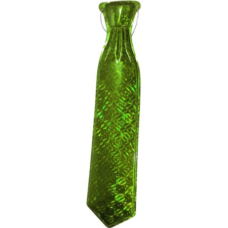 Yellow Mylar Long Gangster Roaring 20s String Tie Costume Accessory