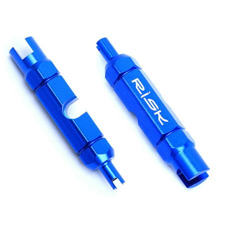 RISK Bicycle Valve Core Removal Tool for Schrader Presta Extender Bike Tube Tire Valve Tool - image 2 de 7