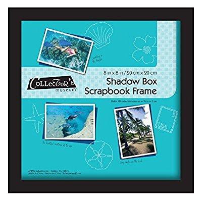 mcs 8x8 inch scrapbook shadowbox frame, black (40393) - Walmart.com