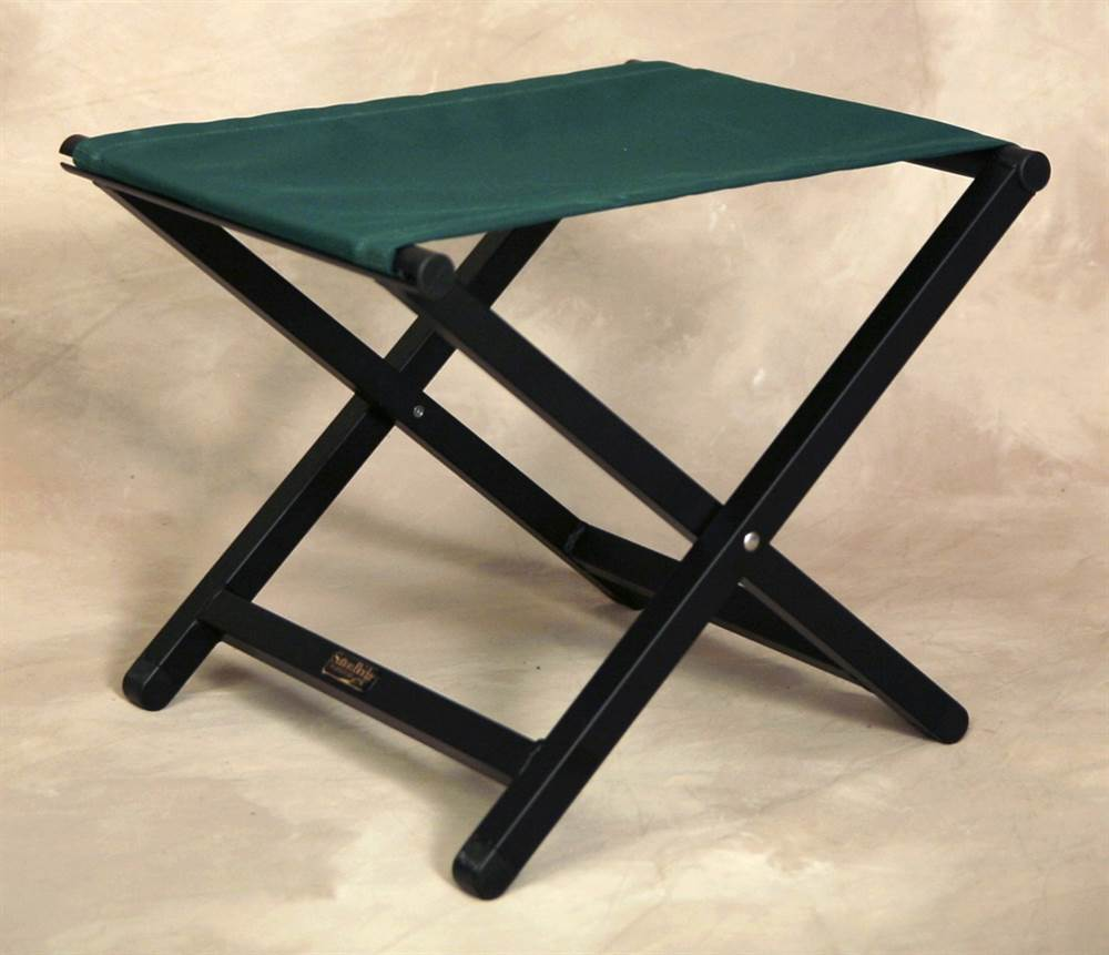 Aluminum Folding Director Style Footstool in Forest Green by Sutton Bridge