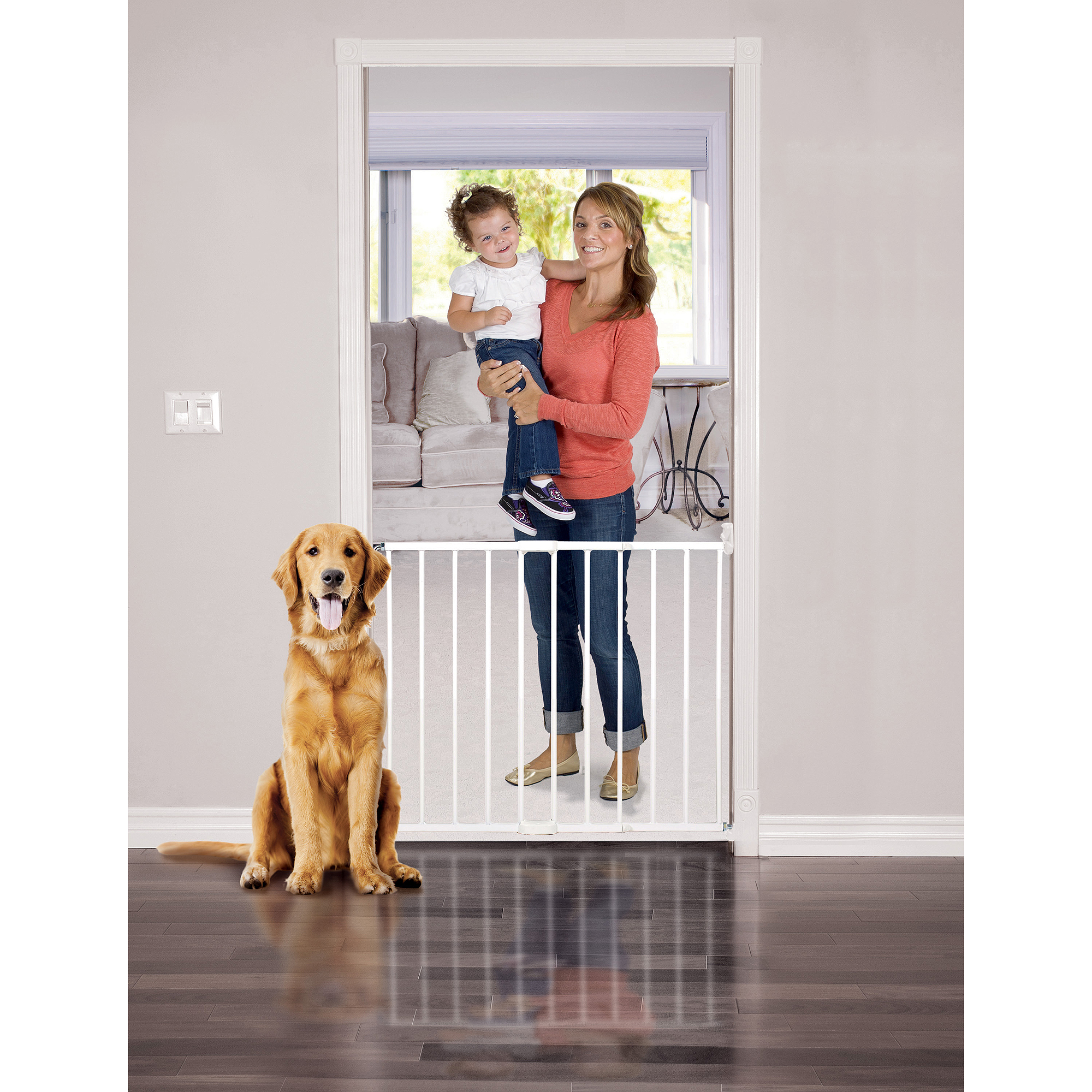 "Baby Trend Swing Door Baby Gate, 24.5""-40"" with Safety Lock"