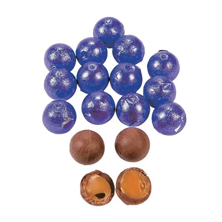 Fun Express - Purple Caramel Chocolate Balls (1lb) - Edibles - Chocolate - Non Branded Chocolate - 37 Pieces (Fun Halloween Caramel Apples)