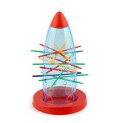 Siaonvr Kids Tumbling Rocket Spaceship Board Game Desktop Toy Pull Out Sticks Fun Toy