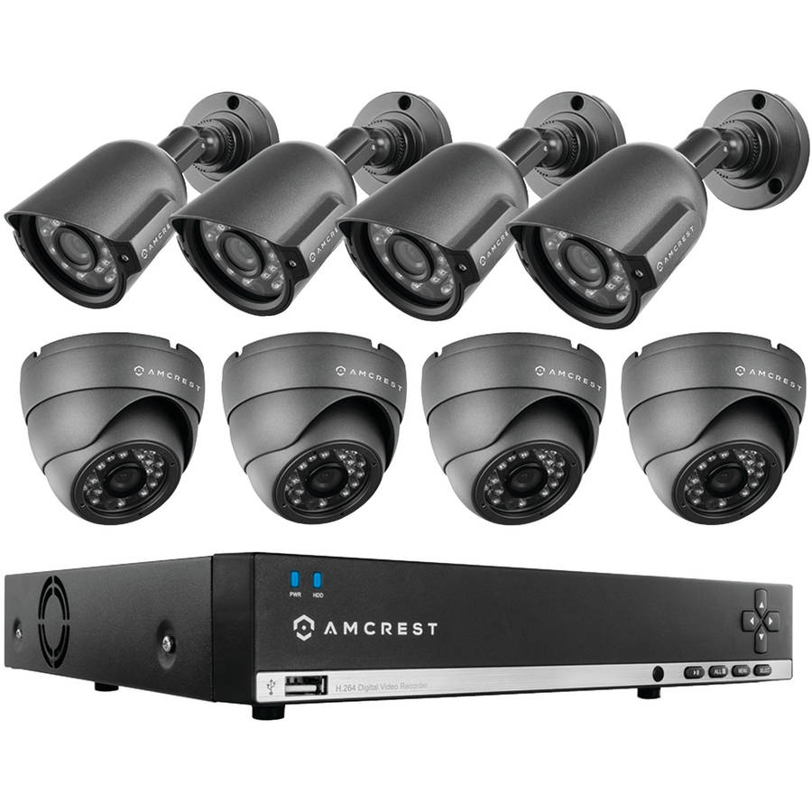 Amcrest AMDV960H8-4B4D 960h 8-Channel 1TB DVR Security System with 4 Bullet and 4 Dome 800+ TVL Cameras