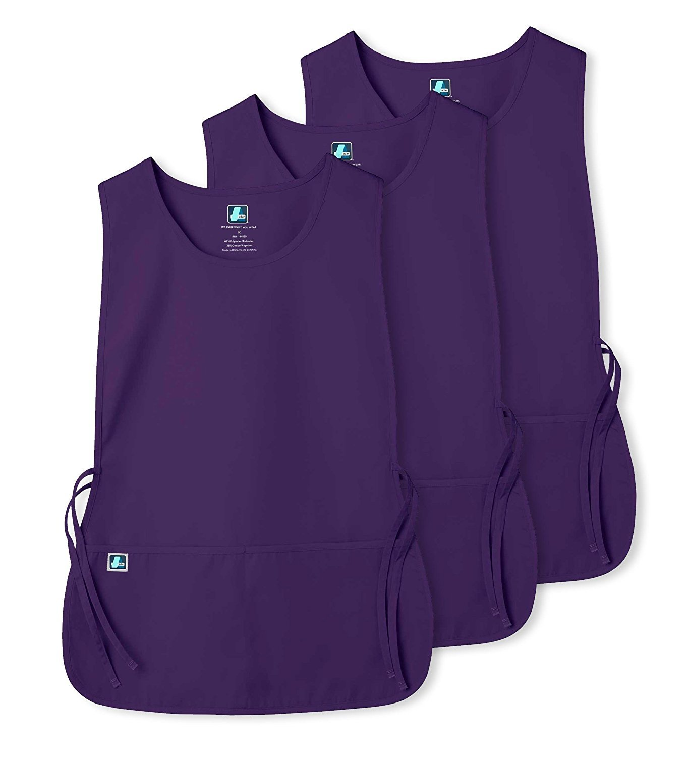 Adar Unisex Cobbler Apron with 2 Pocket / Adjustable Ties - Available in 30 colors (3 Pack)