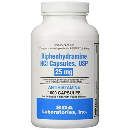 Generic Benadryl (Generic Benadryl Allergy - Diphenhydramine (25mg) - 1000 Capsules )