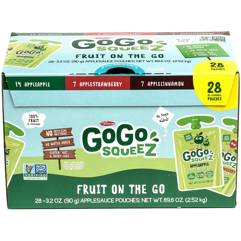 GoGo Squeez Applesauce Variety Pack (3.2oz., 28ct.)
