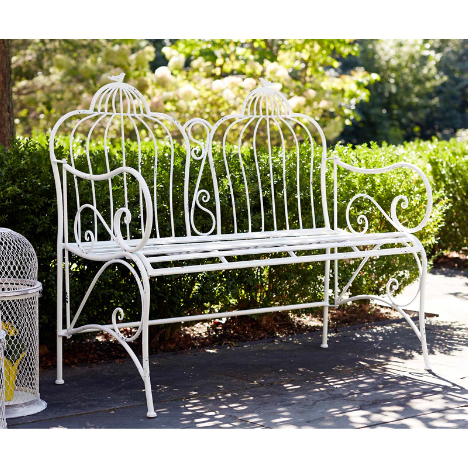 Melrose Birdcage Duo Metal Garden Bench