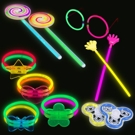 Lumistick Glowstick Bracelet Connectors And Toys Bundle Neon Light Up Party Favors With 100 8