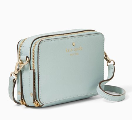 d49371cb3575 kate spade - Kate Spade PWRU4778-428 Women s Cedar Street Carine Removable  Strap Grace Blue Leather Crossbody Shoulder Bag - Walmart.com