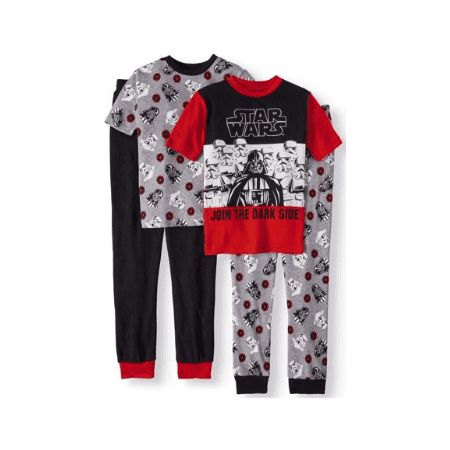 Boys' Star Wars 4 Piece Pajama Sleep Set (Little Boy & Big (Sleepy Star)