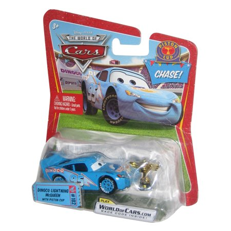 Disney Pixar World of Cars Dinoco Lightning McQueen w/ Piston Cup Trophy Chase Toy Car - Piston Cup Trophy