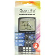 Guerrilla Military Grade Screen Protector 2Pack For Texas Instruments Ti 83 Plus Graphing Calculator