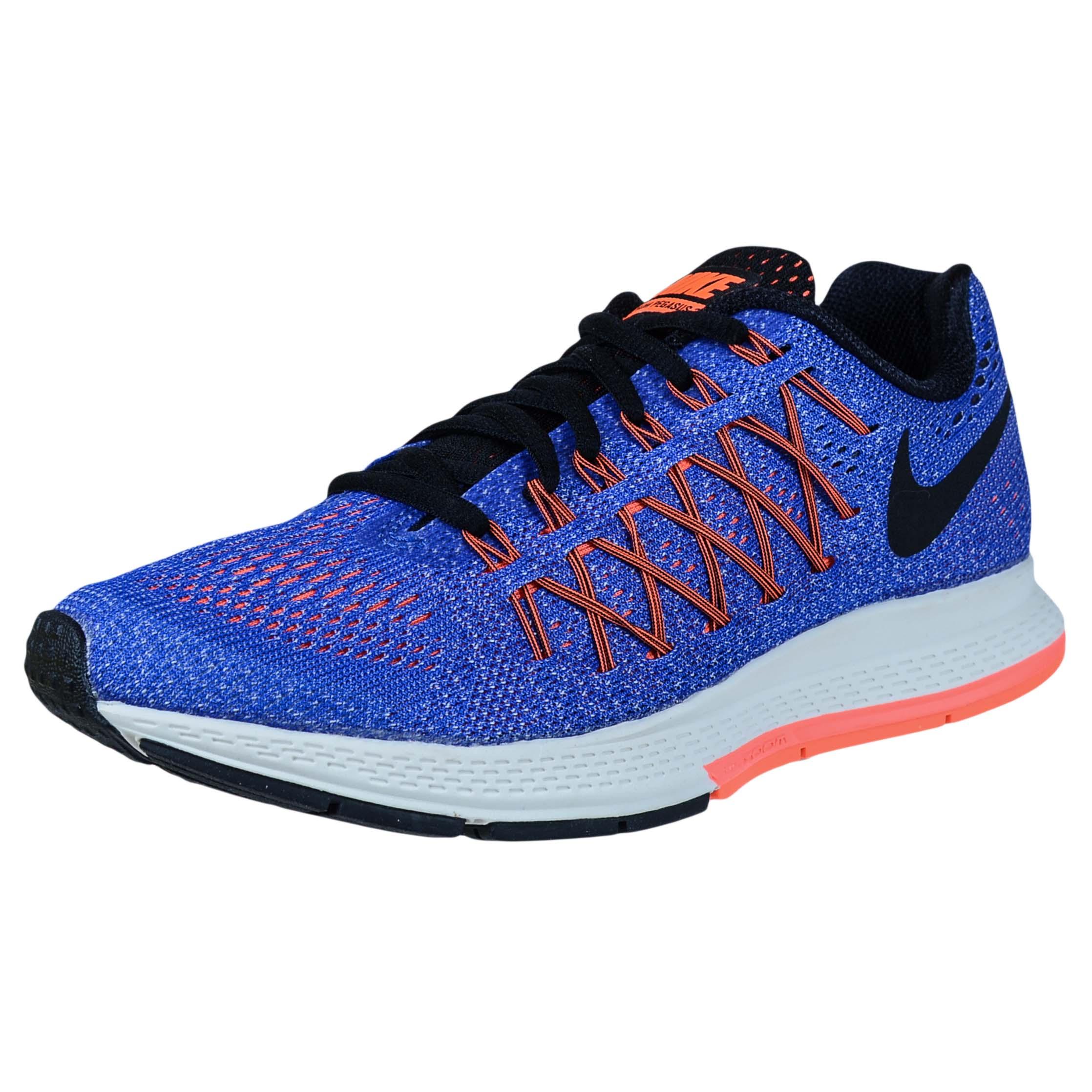 Nike WOMENS AIR ZOOM PEGASUS 32 RACER BLUE BLACK ORANGE R...