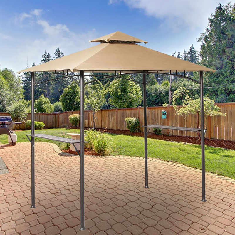 Garden Winds Replacement Canopy Top for Grill Gazebo Model L-GG019PST, Riplock 350