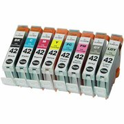 Universal Inkjet Compatible Multipack for Canon CLI-42, 8-Pack