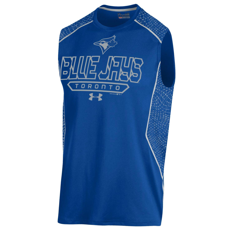 Toronto Blue Jays Under Armour Apex Print Sleeveless Performance T-Shirt - Royal