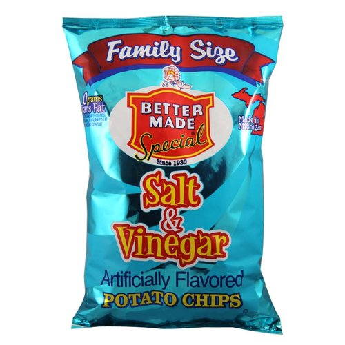 Better Made Special Salt & Vinegar Potato Chips Family Size, 9.5 Oz.