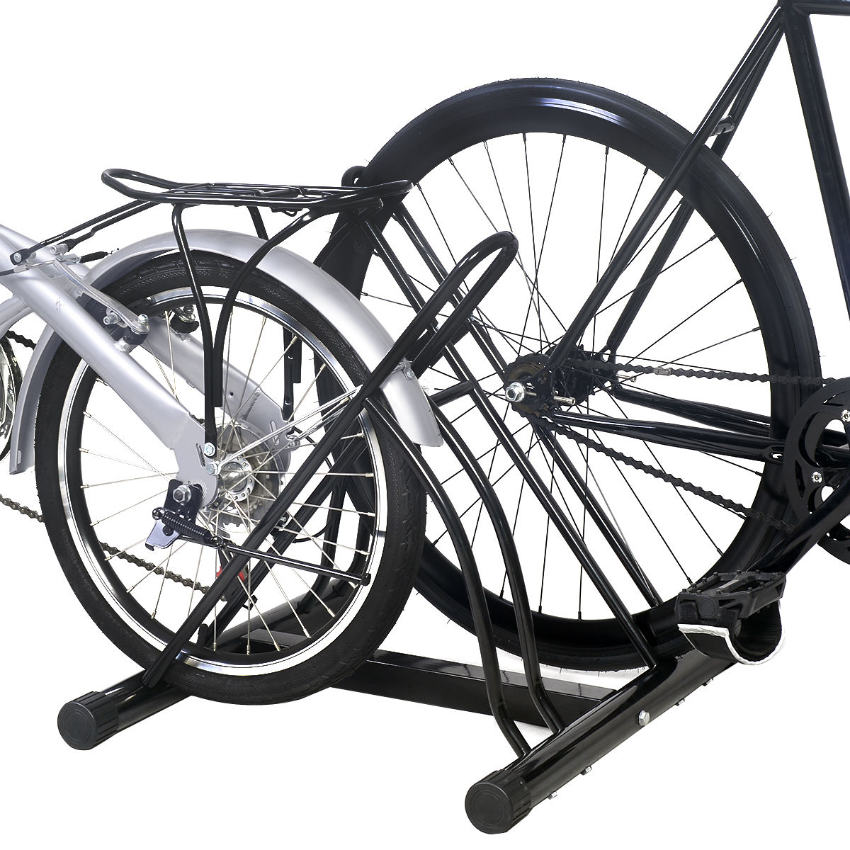 """Details about  /Garage Floor Storage Organizer Cycling Rack Two Bicycle Bike Stand Max Tire 2.5/"""""""