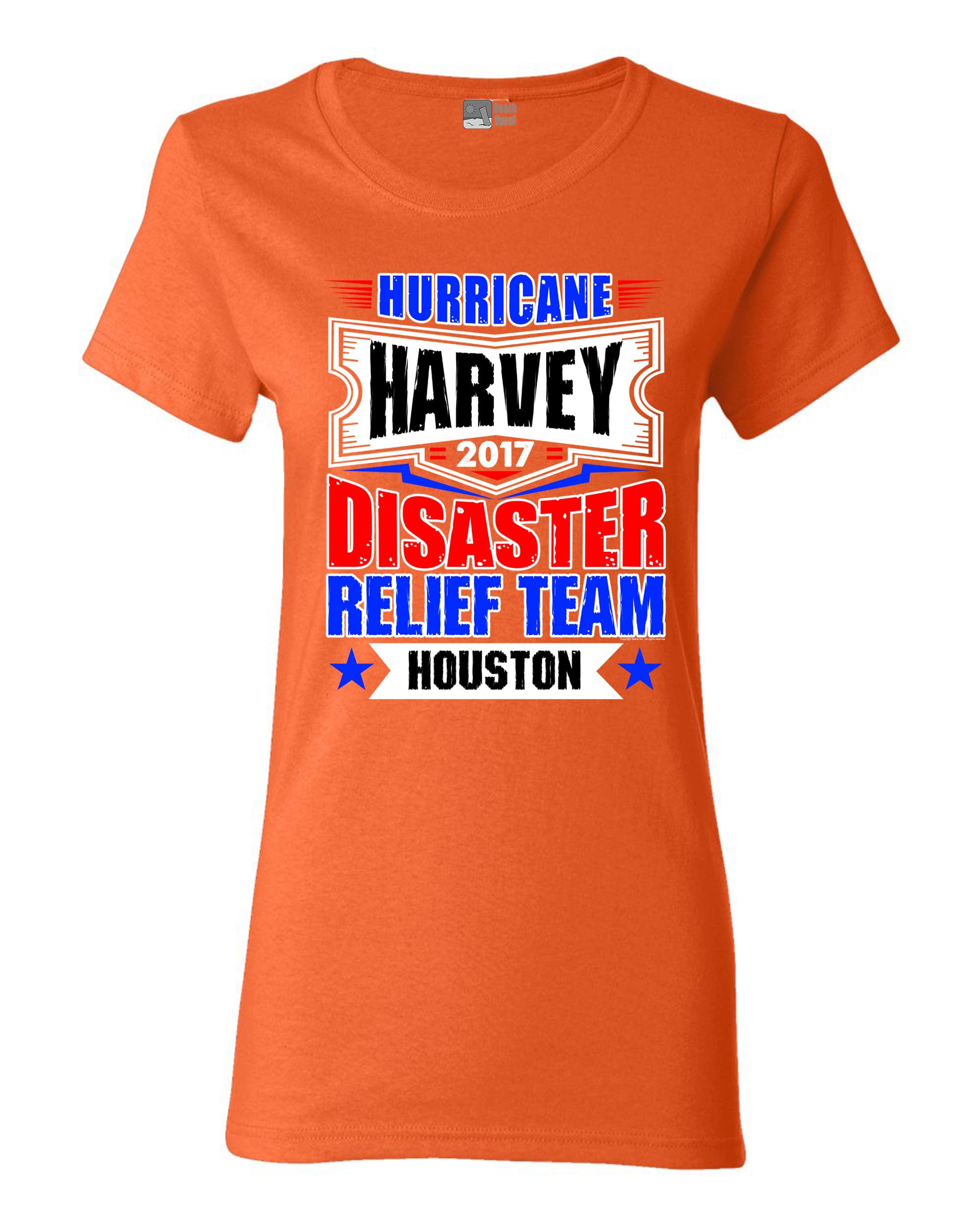 Ladies Hurricane Harvey Disaster Relief Team Houston 2017 DT T-Shirt Tee
