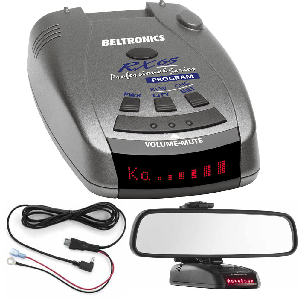 Buy Beltronics RX65 Red Professional Series Radar and Laser Detector includes Bonus RadarMount Car Mirror Mount Bracket For... by Beltronics