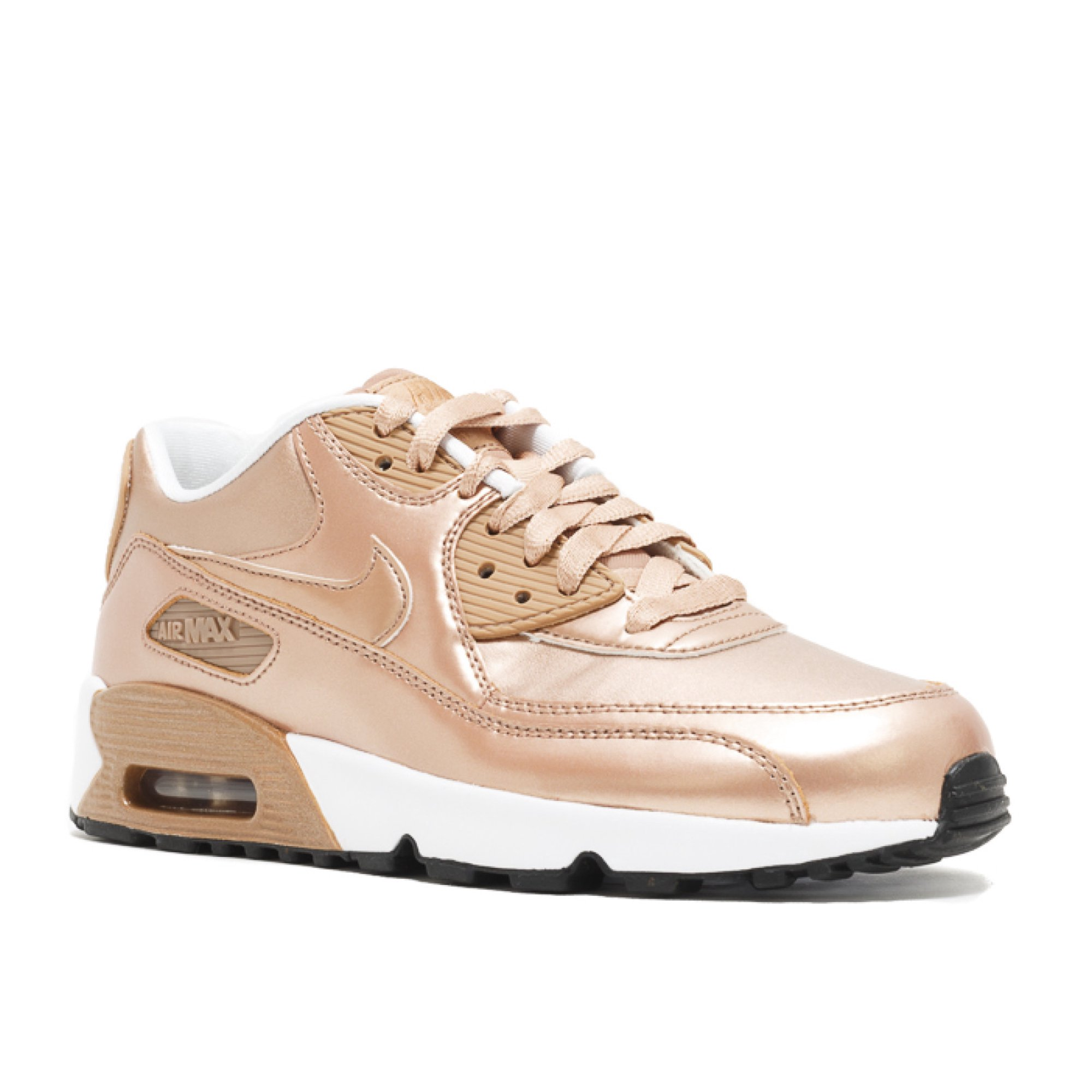 88a3cd86a363c Nike - Unisex - Air Max 90 Se Ltr (Gs) 'Metallic Bronze' - 859633 ...