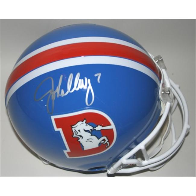 Victory Collectibles VIC-000098-30209 John Elway Autographed Throwback 1975-96 Denver Authentic Helmet