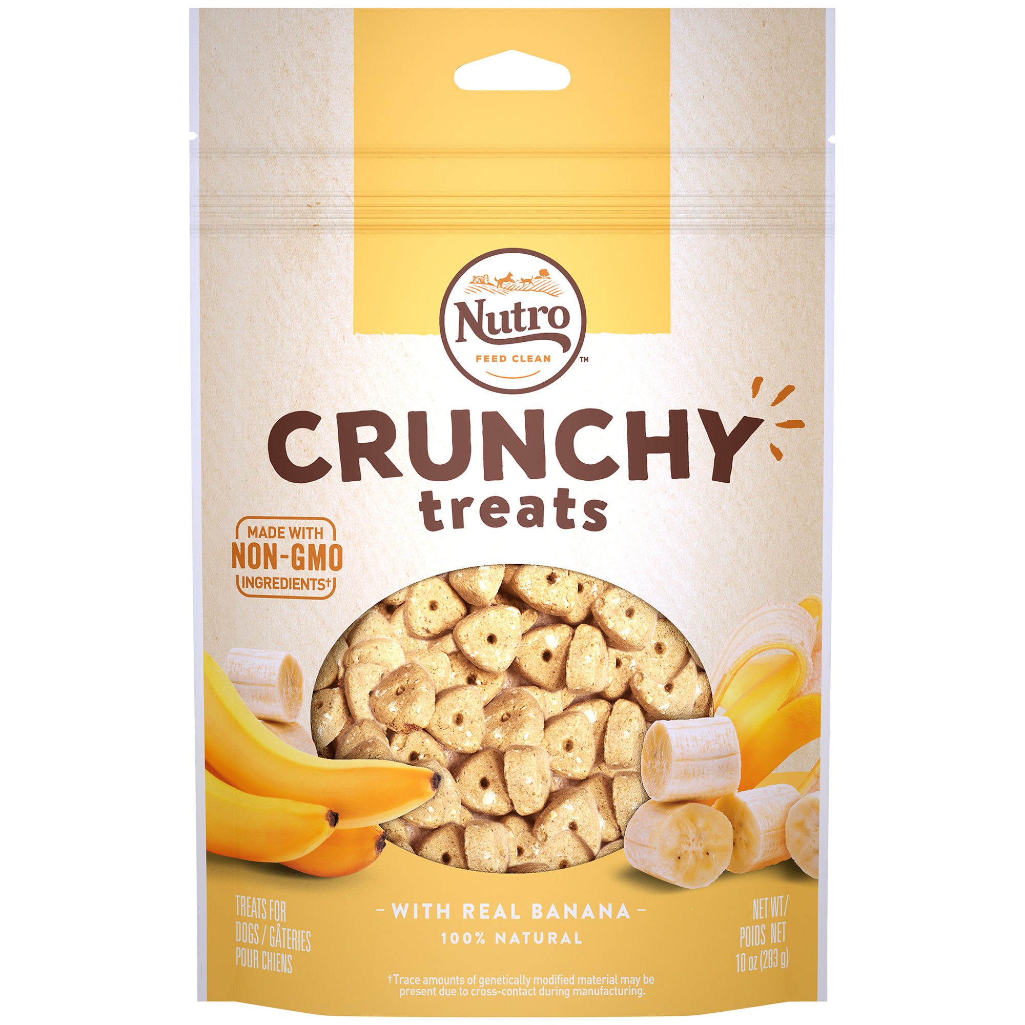 Nutro Crunchy Dog Treats with Real Banana, 10 Oz Bag by Mars Petcare Us