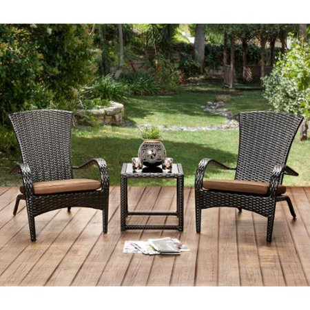 Furniture Of America Riley Espresso Wicker Inspired Patio Chair Set Of 6 Brown Cushions