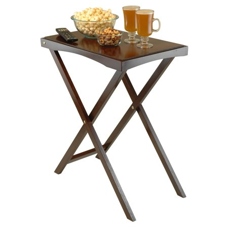 Halloween Serving Table Ideas (Winsome Wood Devon Butler Table with Serving Tray, Walnut)