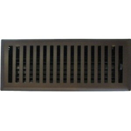 6 X 14 Contemporary Oil Rubbed Bronze Plated Floor Register Vent Cover
