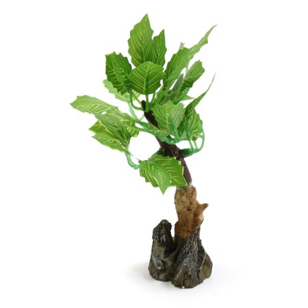 Green Plastic Lifelike Plant Aqua Landscape Decorative Ornament w/ Stand - image 1 of 3
