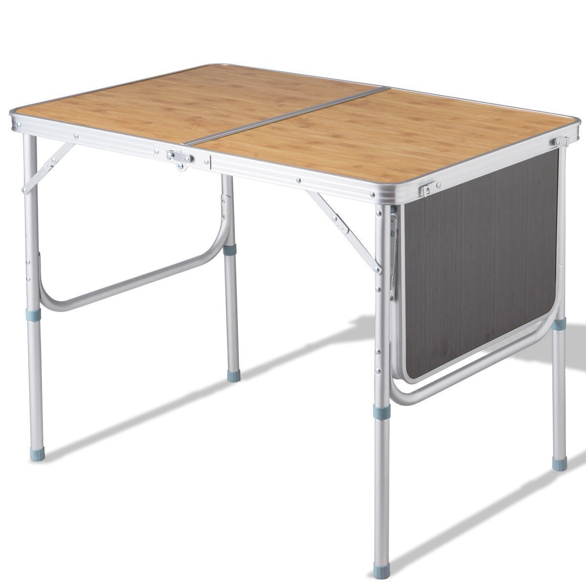 Aluminum Folding Picnic Camping Table with MDF Table Top by