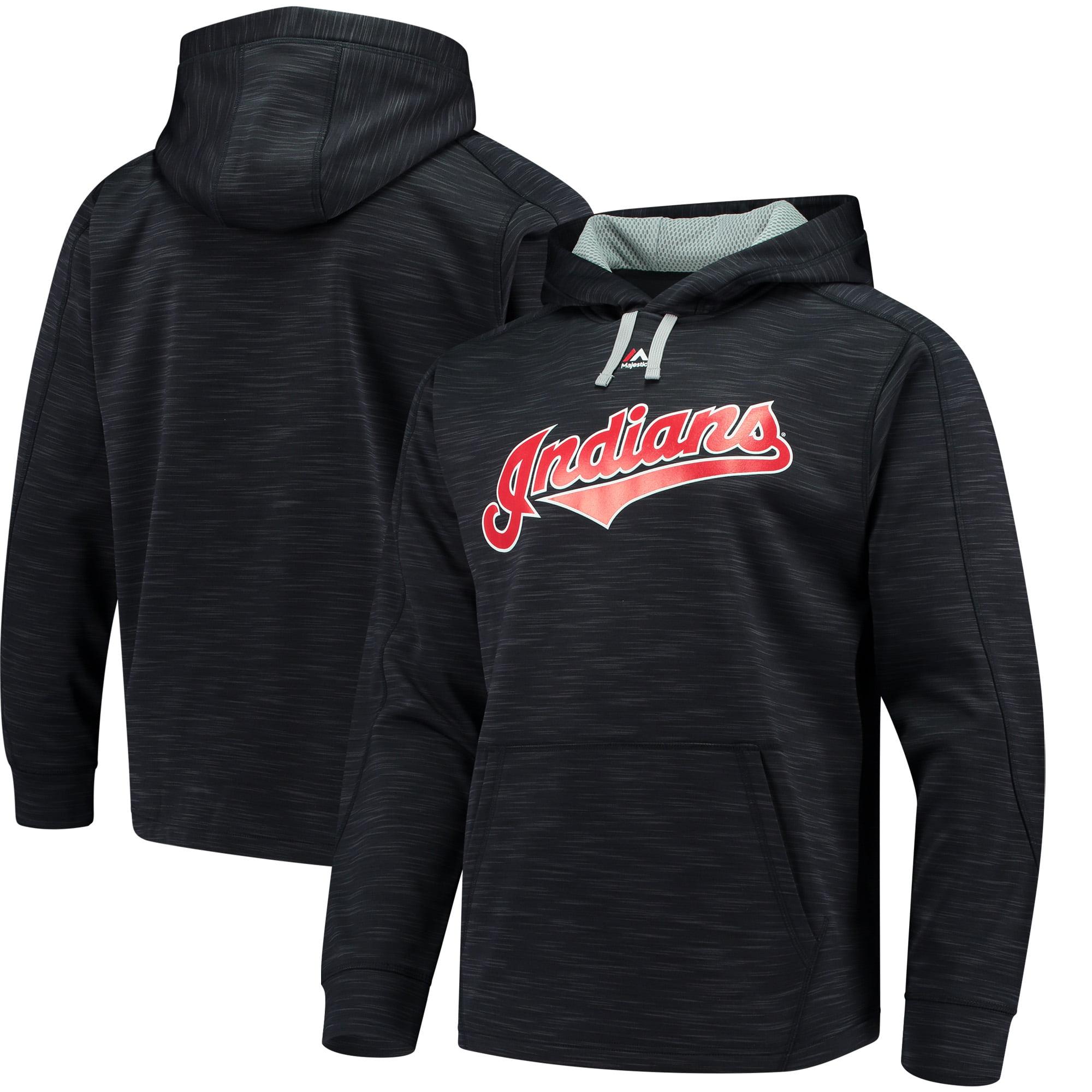 Cleveland Indians Majestic Logo Streak Pullover Hoodie - Navy