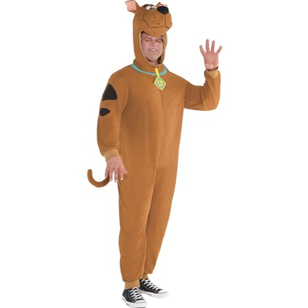 Zipster Scooby-Doo One-Piece Costume for Adults, Plus Size, Includes Jumpsuit](Domo Suit)