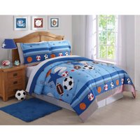 Sports and Stars Comforter with Pillow Sham