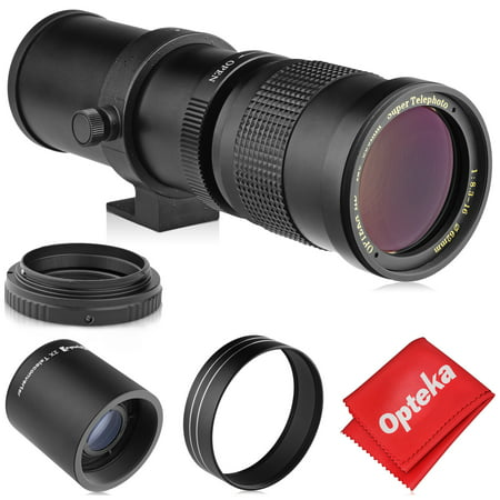 Opteka 420-800mm (w/ 2x- 840-1600mm) f/8.3 HD Telephoto Zoom Lens for Canon EOS EF Mount Digital SLR Cameras