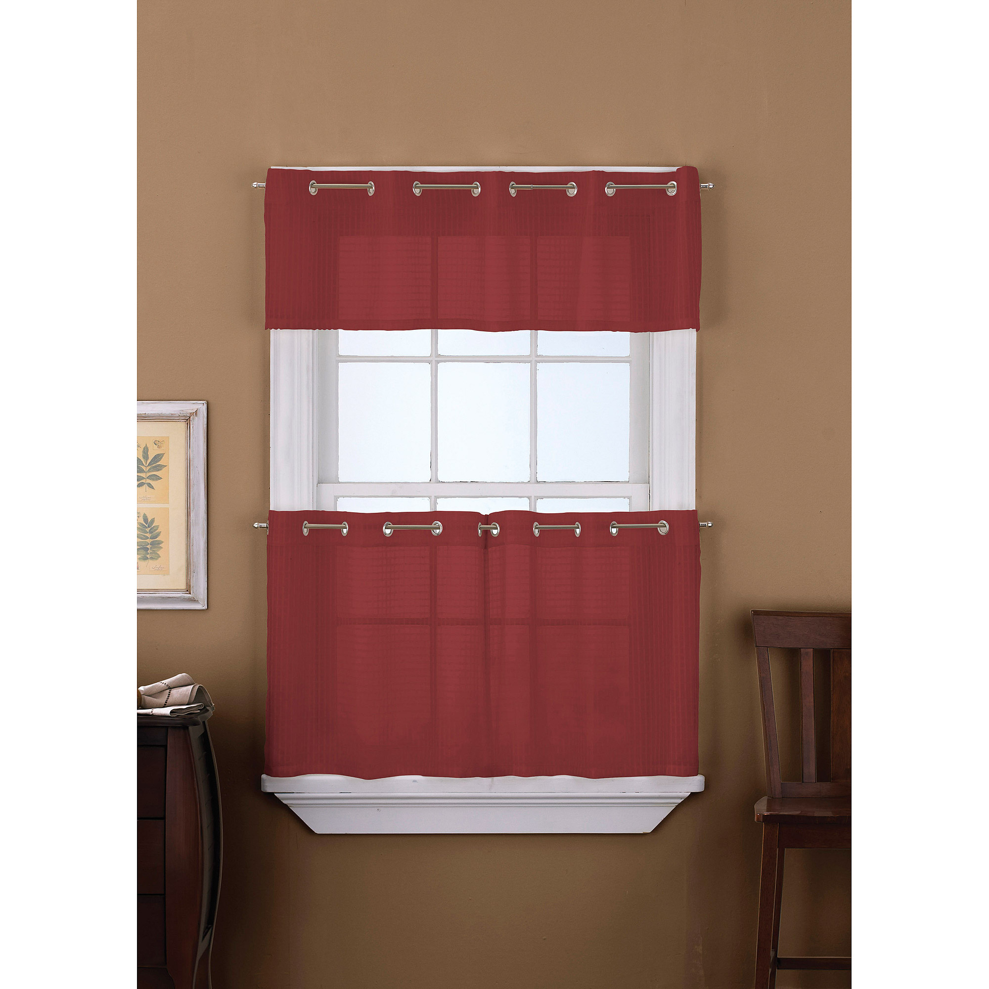 CHF & You Sidney Grommet Window Valance/Tier