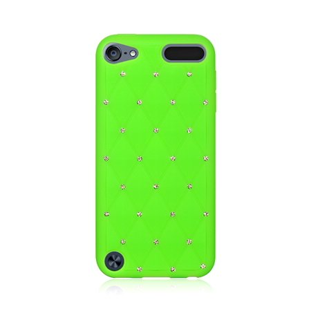 Media Player Accessories Dream Wireless iPod Touch 5,6 Green High End Studded Diamond Skin Case