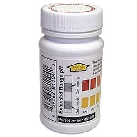 INDUSTRIAL TEST SYSTEMS 481104 Test Strips, pH, 2-12ppm, PK 50
