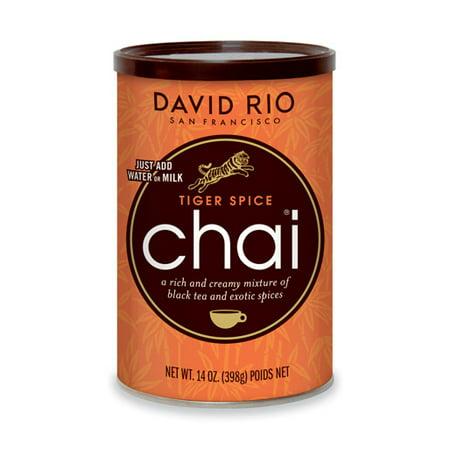 David Rio Tiger Spice Chai, Powdered Tea, 14 Oz