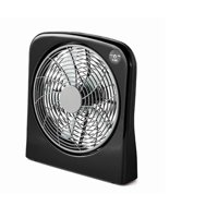 Mainstays 10 in Box Fan, Black
