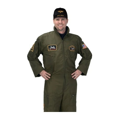 Adult Mens Costume Air Force Fighter Jet Pilot Suit L Adult Large