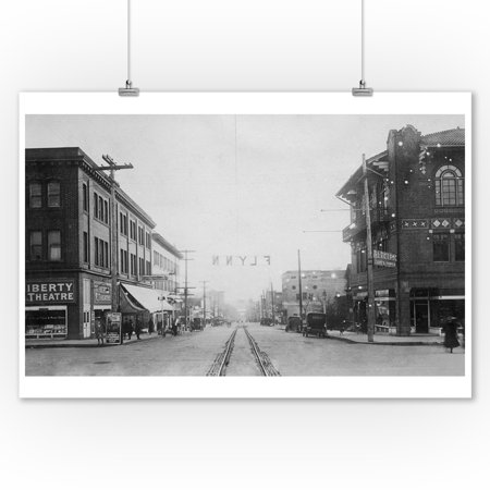 Vancouver, WA - Main Street View of Downtown Photograph (9x12 Art Print, Wall Decor Travel Poster)