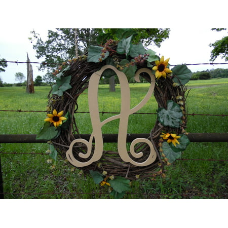Wooden Monogram Vine Letter (A) Unfinished Craft Letter, Paintable - Printable Halloween Craft Ideas