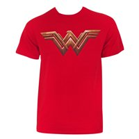 Justice League Men's Red Wonder Woman T-Shirt-Small