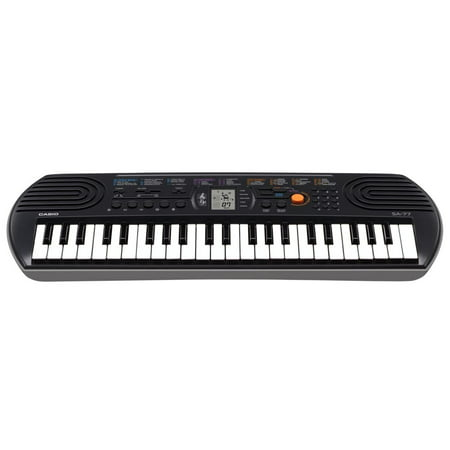 Casio SA-77 44 Key Mini Personal Keyboard - 100 Tones and 50 Rhythms (Paper Piano Keyboard)