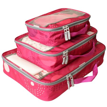 3-Pc Packing Cube Set in Pink